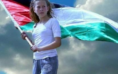 با تیتر اعلام همبستگی دختران دانشگاه های ایران با عهدالتمیمی دختر ۱۶ ساله فلسطینی